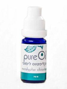 """שמן אקליפטוס לימוני פיור אויל 10 מ""""ל eucalyptus citriodora Pure Oil"""