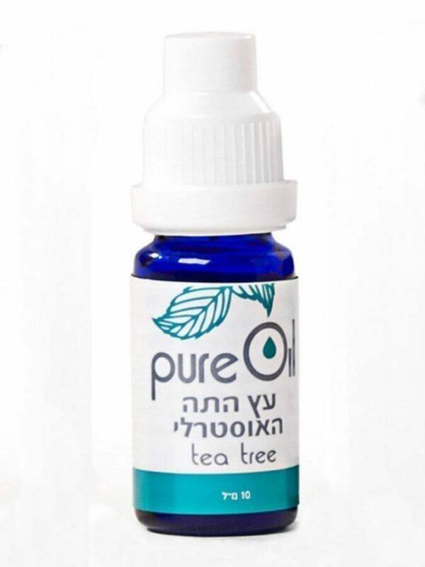 """שמן עץ התה 10 מ""""ל פיור אויל TEA TREE OIL PURE OIL"""