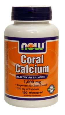 "קורל קלציום 1000 מ""ג (סידן) NOW CORAL CALCIUM"