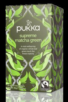 חליטת תה ירוק מאצ'ה Pukka  Supreme Green Matcha