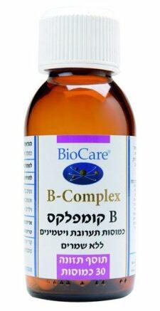 B קומפלקס (בי קומפלקס) ללא שמרים  30 כמוסות ביוקר