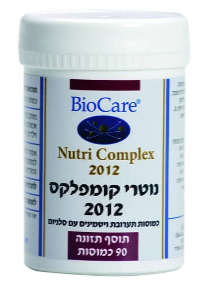 נוטרי קומפלקס 2012 תערובת ויטמינים עם סלניום 90 כמוסות ביוקר