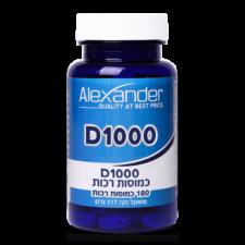 ויטמין D1000 אלכסנדר 180 כמוסות רכות תוקף 9/20