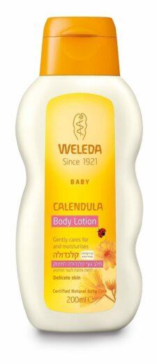 חלב גוף קלנדולה לתינוק וולדה