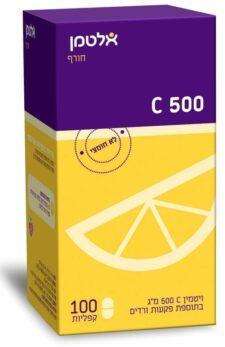 ויטמין C-500 אלטמן 100 קפליות