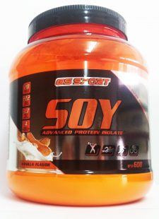חלבון סויה מבודד (אייזולייט) בטעם ווניל 600 גרם G.S Protein isolate