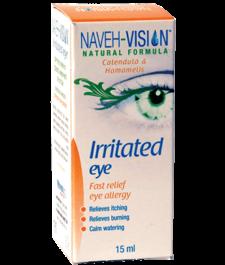 """טיפות עיניים להקלה במצבי אלרגיה, גרד ואי נוחות בעין 15 מ""""ל NAVEH VISION"""