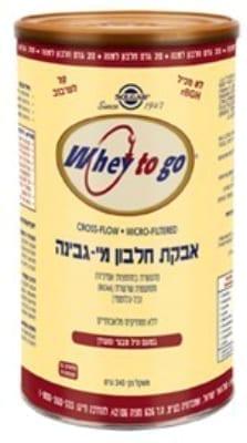 אבקת חלבון מי גבינה בטעם וניל 340 ג' סולגאר